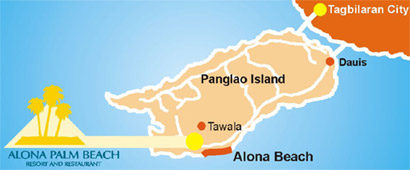 Alona Palm Beach Resort Map