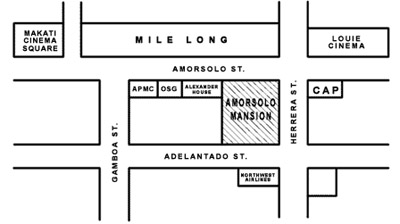 Amorsolo Mansion Apartments and Suites Map