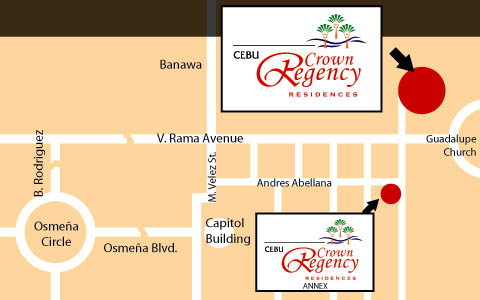 Crown Regency Residences Map