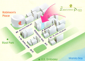 Executive Plaza Hotel Map