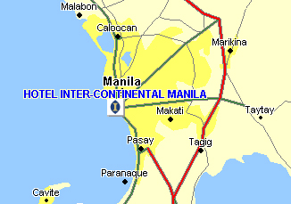 Hotel Inter-Continental Manila Map