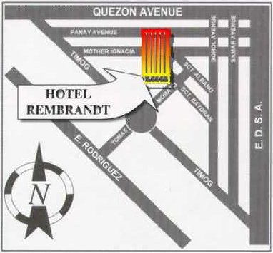 Hotel Rembrandt Map