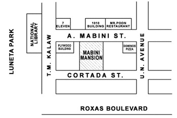Mabini Mansion Hotel and Residential Suites Map