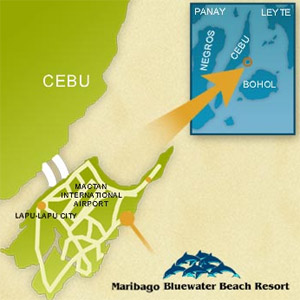 Maribago Bluewater Beach Resort Map