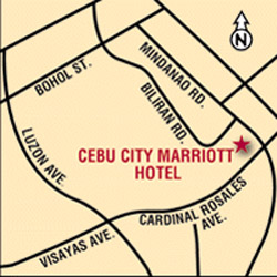Cebu City Marriott Hotel map