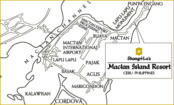 Shangri-la's Mactan Island Resort Map